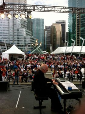 A view from the stage on Canada Day