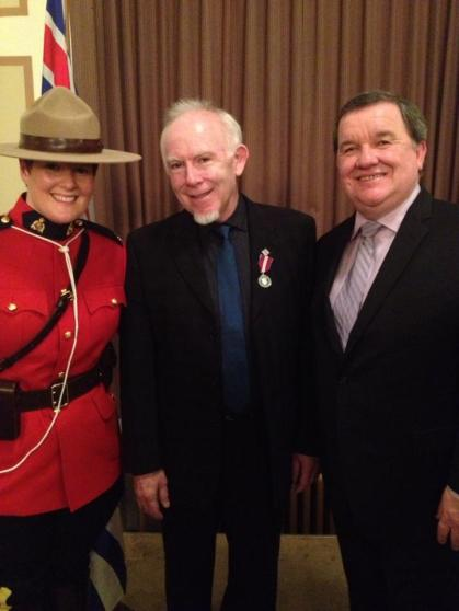 Receiving Queens Jubilee Medal